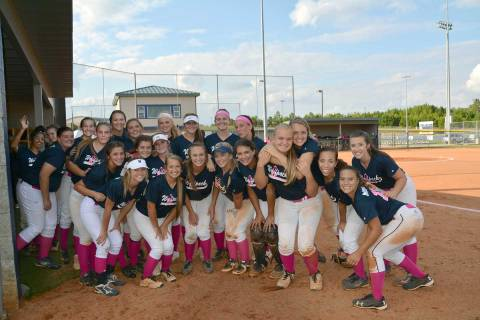 NPHS Softball Wolfpack at Cancer Awareness Game.
