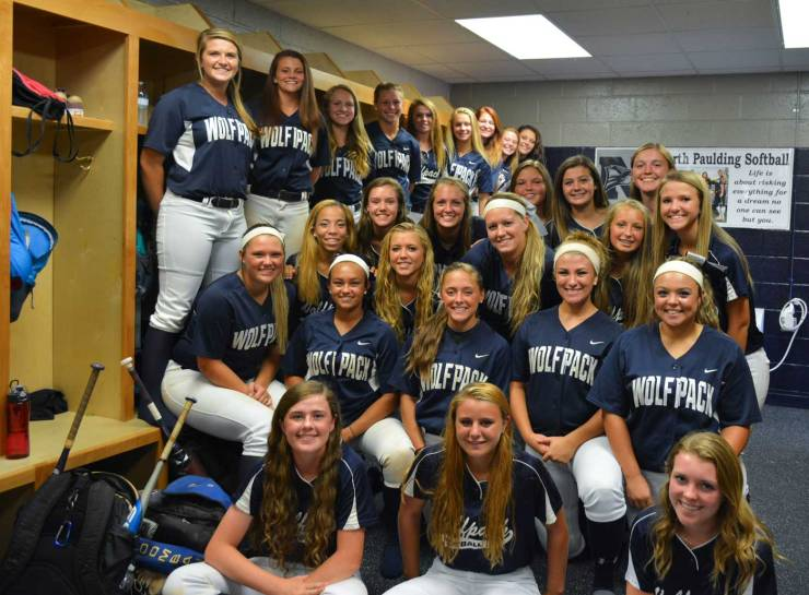 North Paulding High School Softball Locker Room