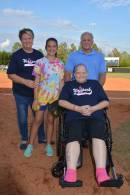 Rileigh Harris celebrating her grandmother, Rita Harris, and her aunt, Ginger Grubb