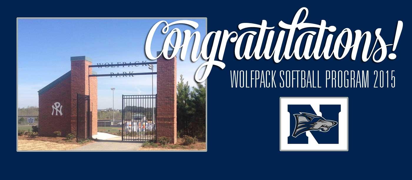 North Paulding Softball Field Gate Congratulations