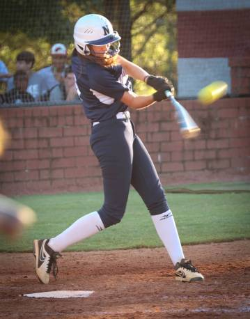 Abbey Chandler at bat for North Paulding High School