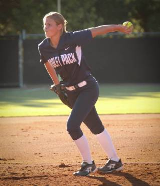 Caeley Anderson pitching North Paulding High School Softball.