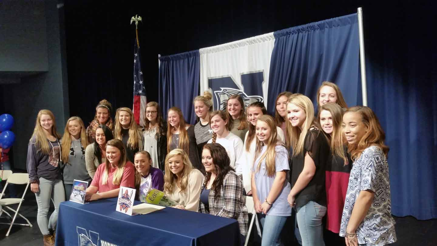 North Paulding High School Softball team on hand for college signings.