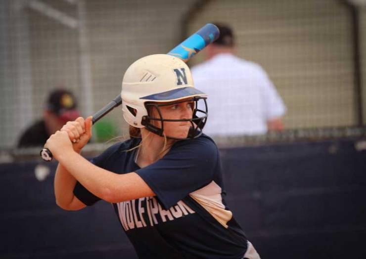 NPHS Softball Anna Garren