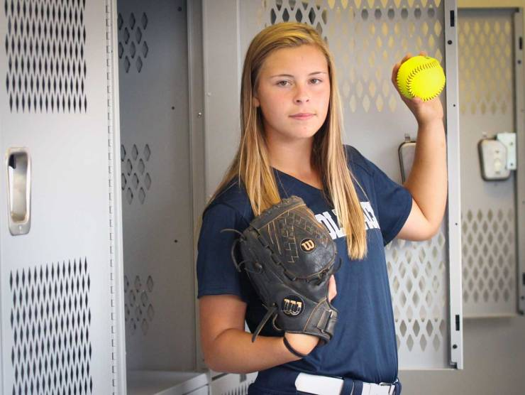 Caeley Anderson, pitcher for North Paulding High School Softball.