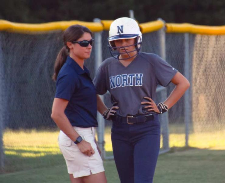 NPHS-Softball Marisa Pierce and Coach Maloney.