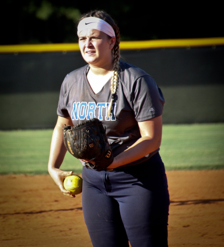 NPHS Softball Shay Sullins on the Mound against East