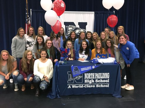 Alyssa Brumelow signs with Georgia State University for the 2017 Softball Season.