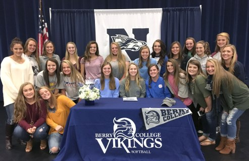 NPHS senior Brooke Whittemore signs with Berry College for the 2017 season.
