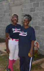 Candice Johnson and her Grandmother.